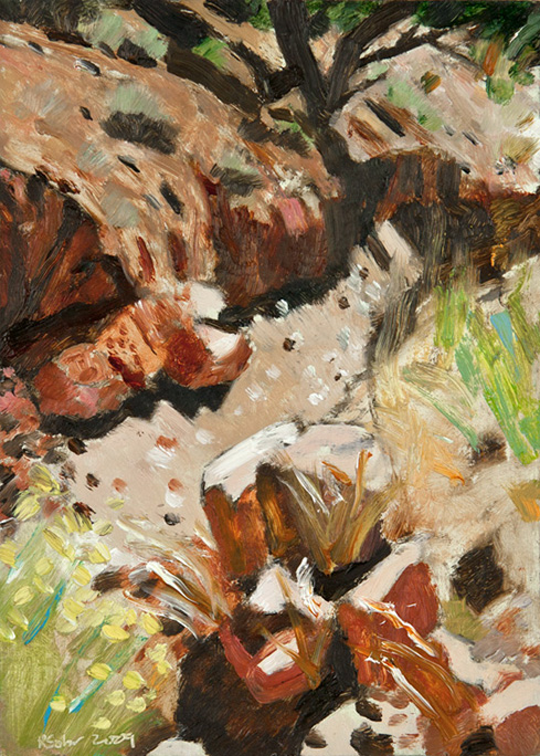 Richard Sober painting: Monastery Canyon (3)