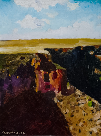 Richard Sober's painting: Gorge, 1