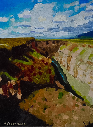 Richard Sober's painting: Gorge, 2