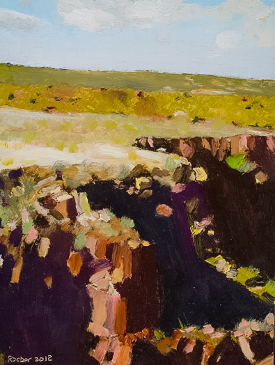 Richard Sober's painting: Gorge, 3