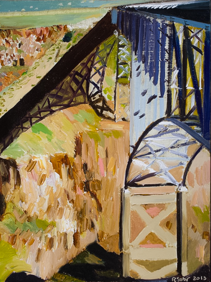 Richard Sober's painting: Bridge