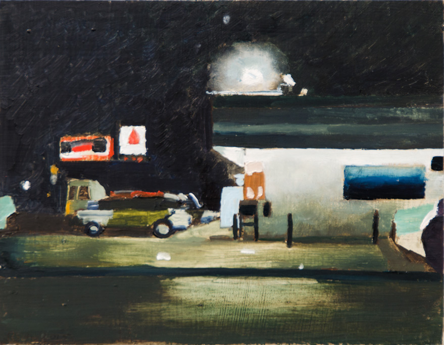Richard Sober's painting: Night Gas