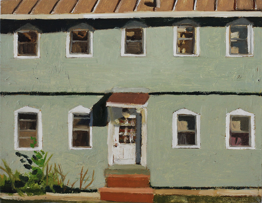 Richard Sober's painting: Dodge Street