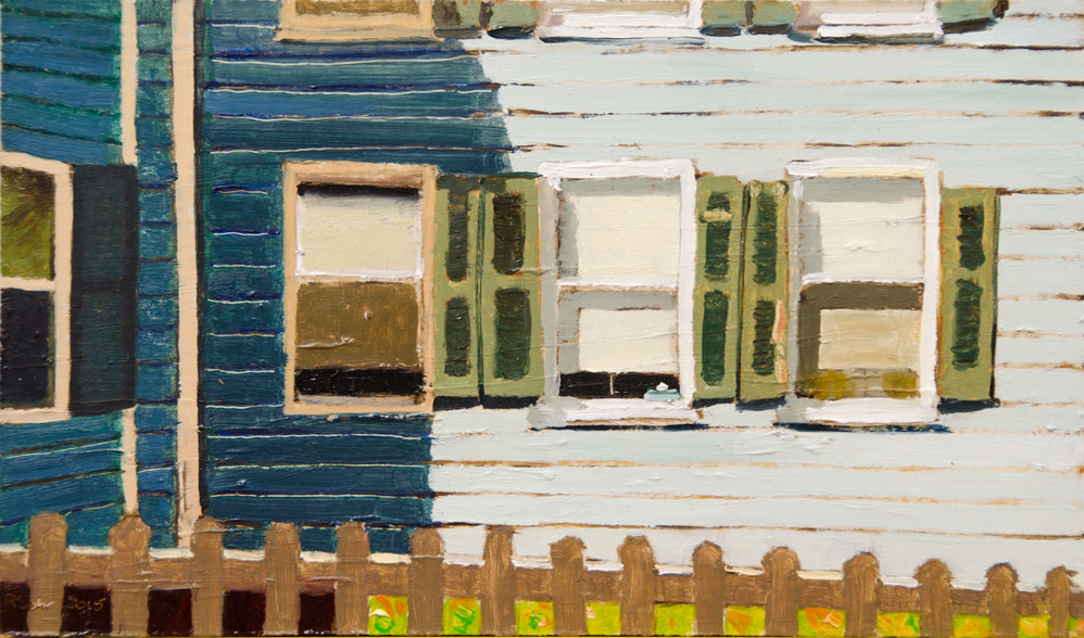 Richard Sober's painting: Shutters