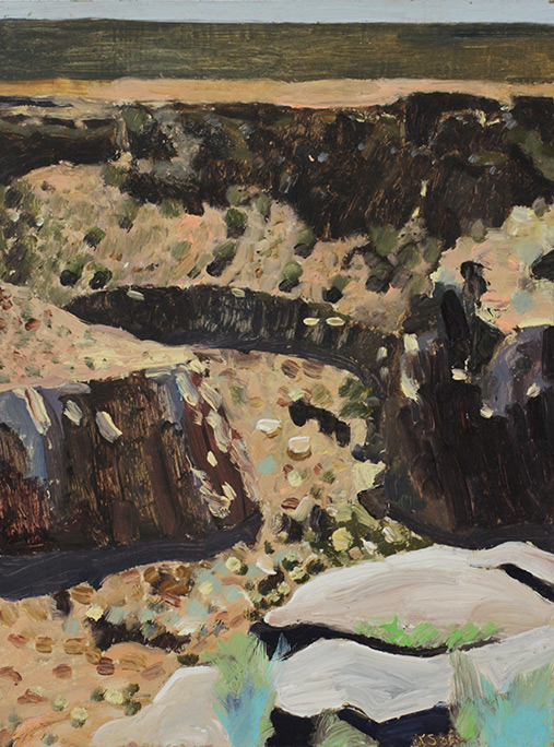 Richard Sober's painting: Gorge 13